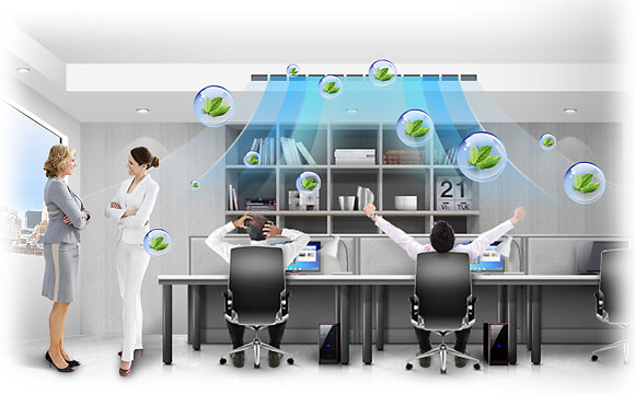 داکت اسپلیت سقفی و دیواری برای محیط کار و اداره